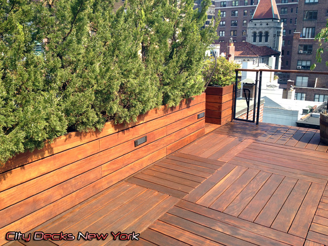 Park ave ipe wood roof top deck contemporary patio for Top deck roofing