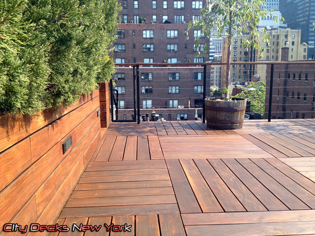 Park Ave - IPE Wood Roof Top Deck contemporary-patio