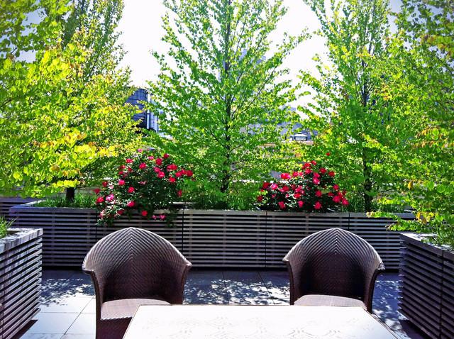 Park Ave Terrace Design: Roof Garden, Bluestone Paver