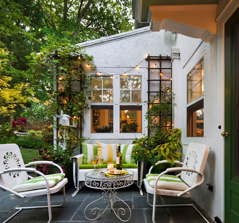 Inspiration for a timeless patio remodel in New York with no cover