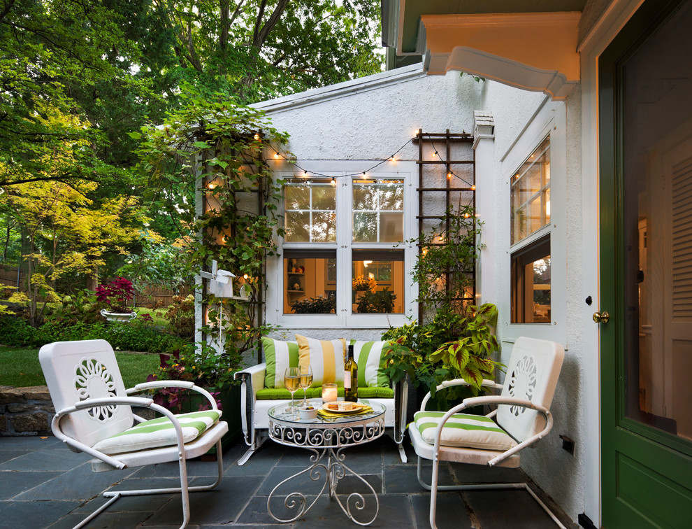 Patio - traditional tile patio idea in New York with no cover