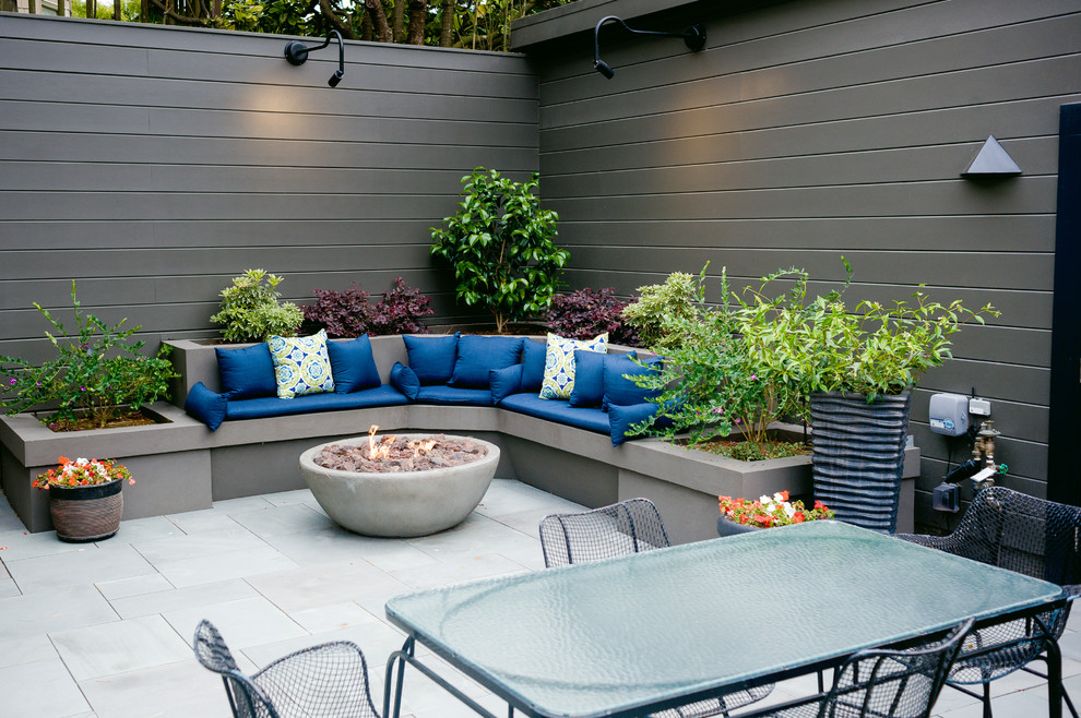 Inspiration for a transitional patio remodel in San Francisco with no cover