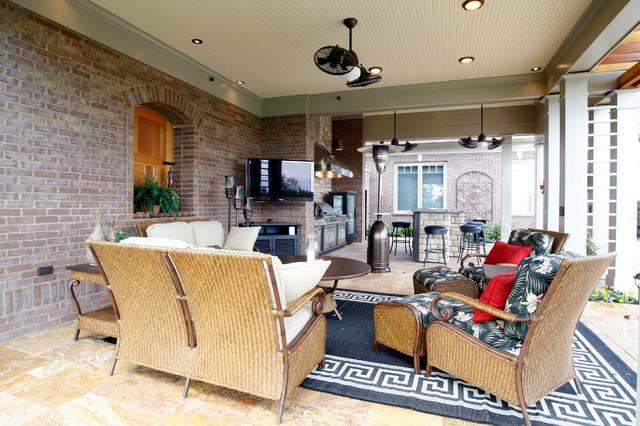 Parson's Pool House contemporary-patio