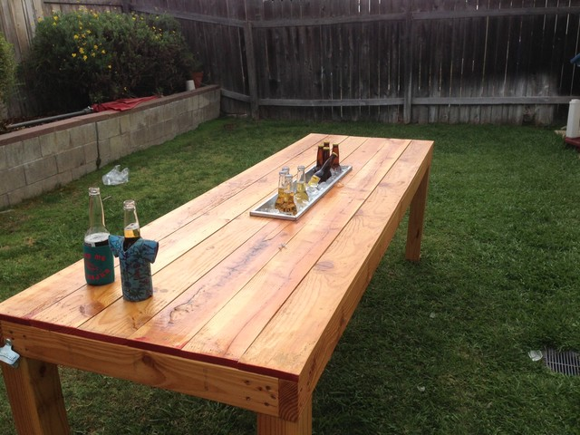 Party Picnic Table Traditional Patio