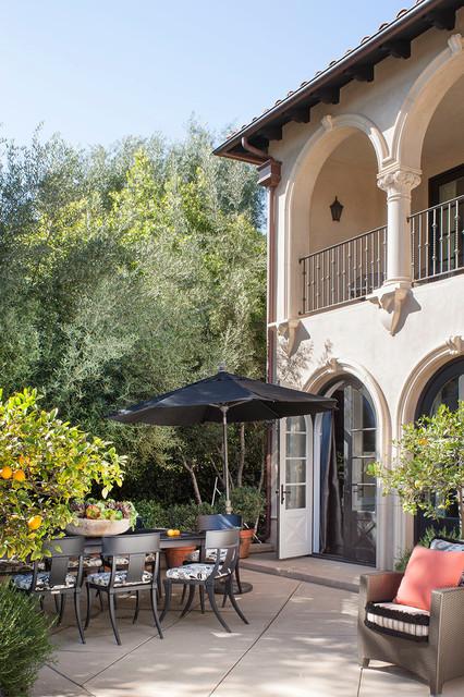 Pasadena Transitional Style Italian Revival Loggia