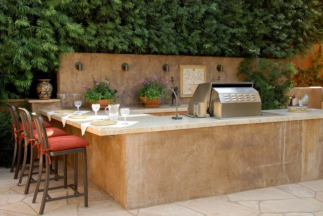 pasadena westover place mediterranean patio bbq grill design ideas - Bbq Design Ideas