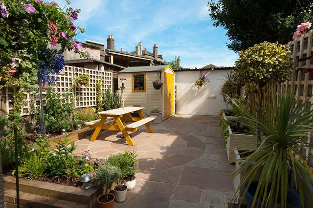 Small Elegant Backyard Patio Photo In Surrey. Save Photo. Amanda Miller Garden  Designs