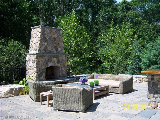 Patio & Fireplace traditional-patio