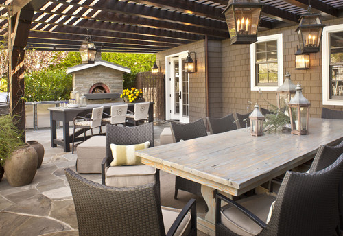 Patio and outdoor grill