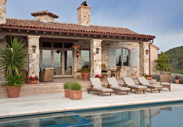 Patio and Pool mediterranean-patio
