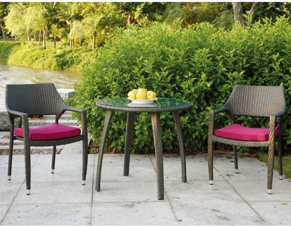 Patio Bistro Table And Chair Set Contemporary Patio