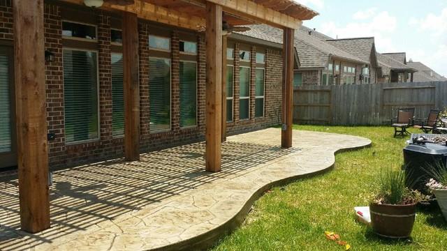 Patio Concrete Flooring Options Patio Houston By