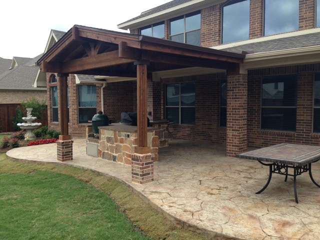 patio covers rustic outdoor kitchen designs | Patio Cover & Outdoor Kitchen