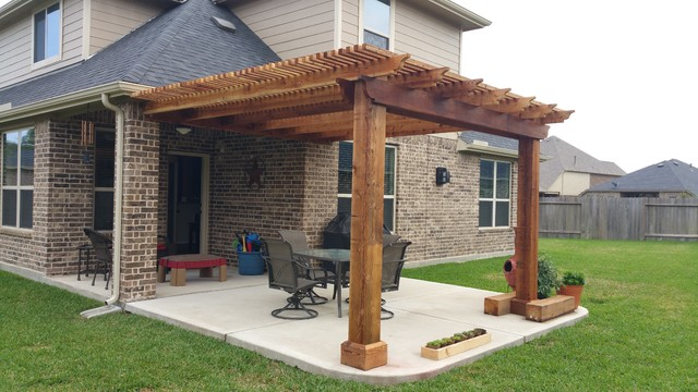 Patio Cover Before and After - Traditional - Patio - Houston - by ...