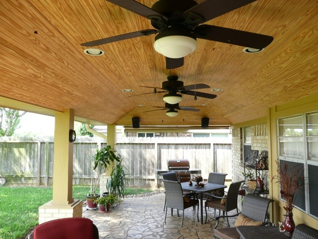 Genial Patio Cover Ceiling Options   Rustic   Patio   Houston   By ...