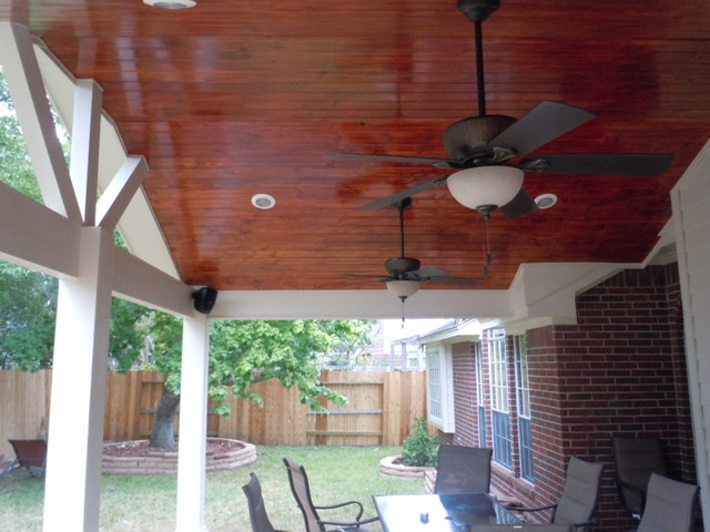 Patio Cover Ceiling Options American Traditional Patio