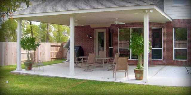 elegant patio photo in austin - Patio Cover Ideas