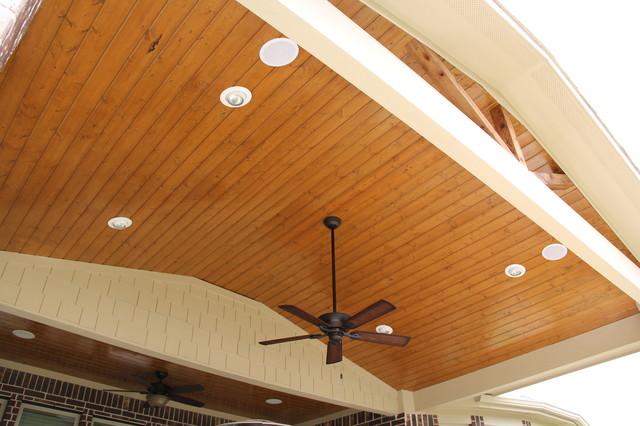 Patio Cover in Cross Creek Ranch Fulshear TX traditional-patio