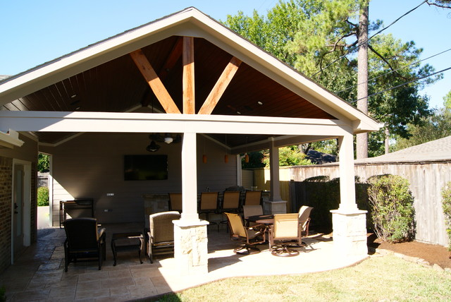 Patio Cover in Houston - Rustic - Patio - Houston - by Texas Custom ...