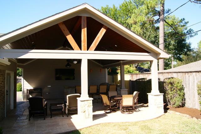 Custom Backyard Patios : Patio Cover in Houston  Rustic  Patio  houston  by Texas Custom