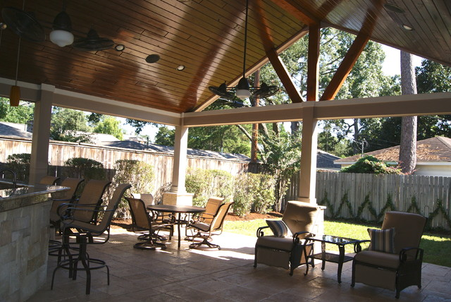 Patio cover in houston rustic patio houston by texas custom