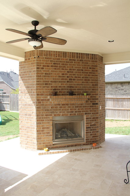 Patio Cover Outdoor Kitchen Fireplace And Water Feature