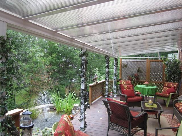 Patio cover translucent traditional patio toronto for Patio materials