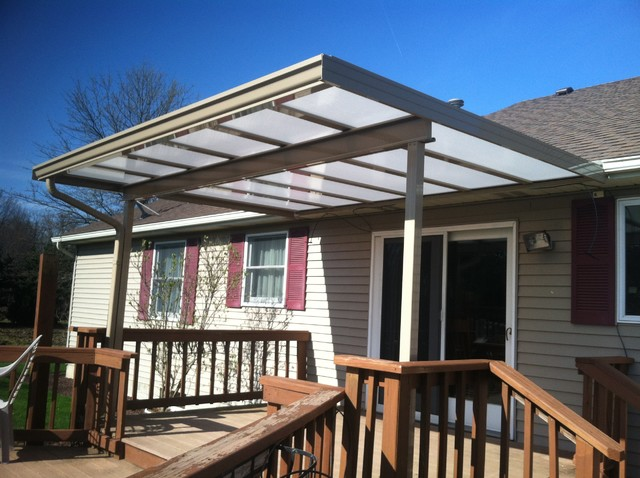 Lovely Patio Covers: White Translucent Panels Traditional Patio