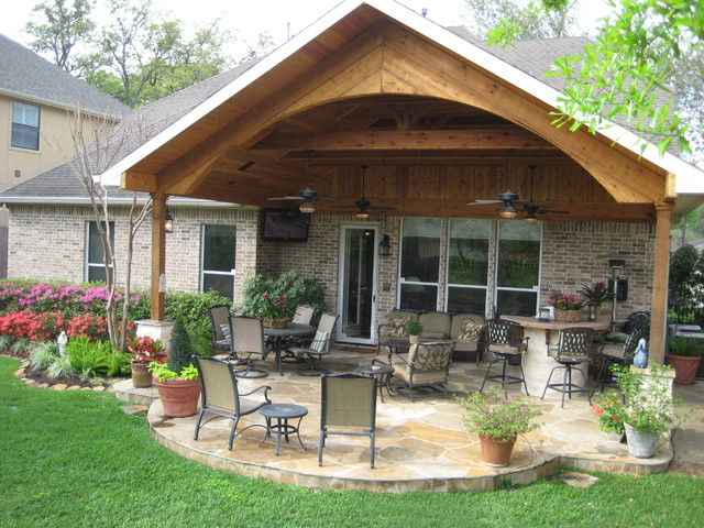 Patio Covers traditional-patio - Patio Covers - Traditional - Patio - Houston - By Wood Crafters Of