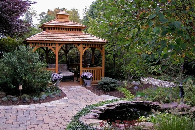 Galerry gazebo in landscape design