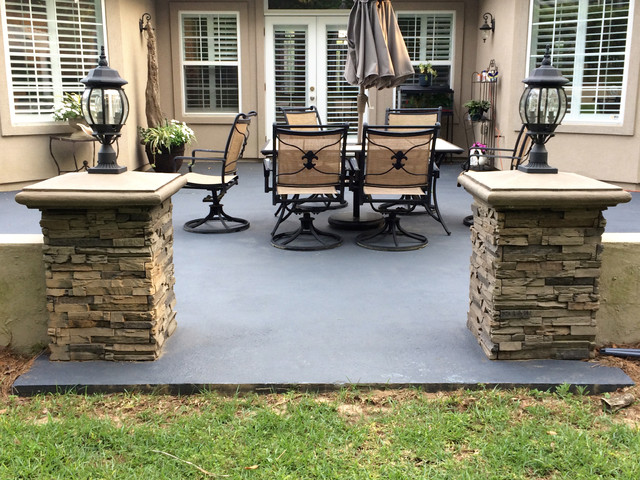 Superieur Patio Designs With Faux Stone And Brick Traditional Patio