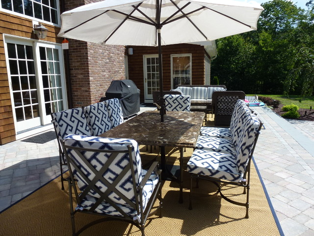 Patio, Easton, CT - Traditional - Patio - other metro - by Allison Lee Ethan Allen Milford, CT