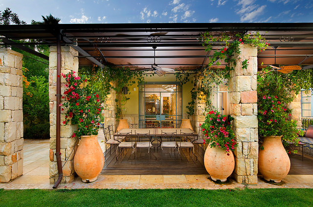 Patio mediterranean patio other metro by elad gonen - Mediterranean backyard designs ...