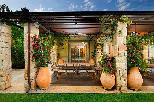 patio - Mediterranean - Patio - other metro - by Elad Gonen on Small Mediterranean Patio Ideas id=58909