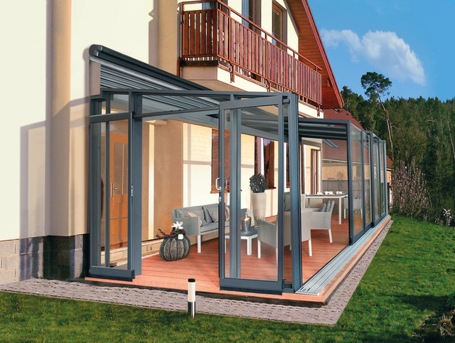 Glass Patio Design Terrace Enclosure CORSO GLASS Modern Patio Other Metro By