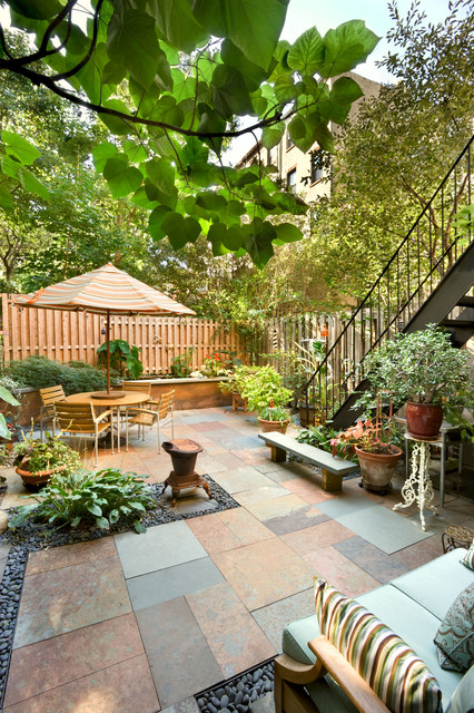 Patio, Historic Townhouse, Brooklyn, New York on Townhouse Patio Design Ideas id=29993