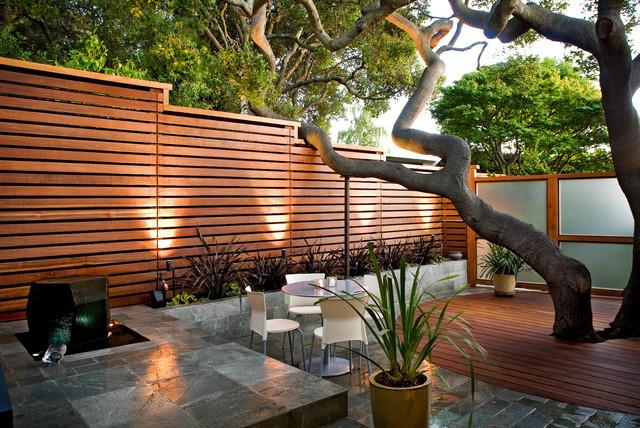 Backyard Privacy Wall Ideas : Patio  Contemporary  Patio  san francisco  by Ohashi Design Studio