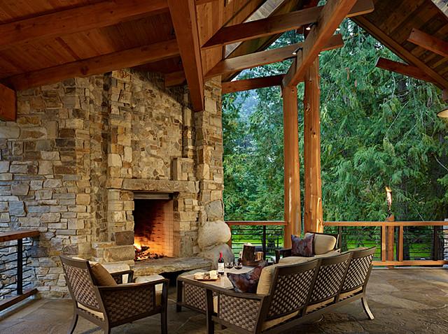 Patio of Cedar Haven Home contemporary-patio