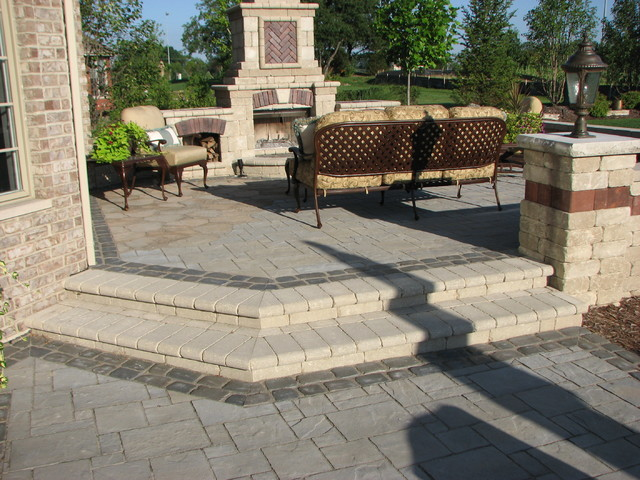 Patio Renovation Project with Grill and Fireplace traditional-patio