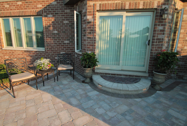 Patio Renovation with Outdoor Kitchen and Fire Pit modern-patio