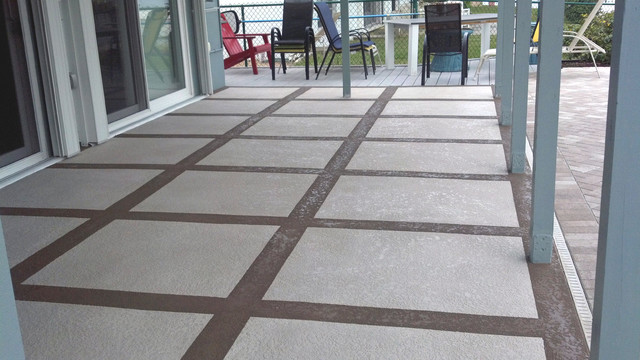 patio resurfacing tropical patio tampa by coastal
