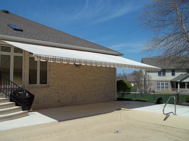 patio retractable awnings traditional patio