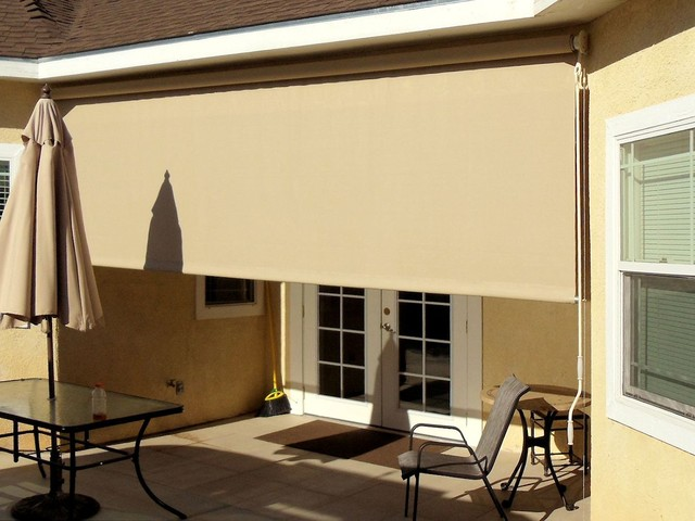 Patio Roller Drop Shade traditional-patio - Patio Roller Drop Shade - Traditional - Patio - Los Angeles - By