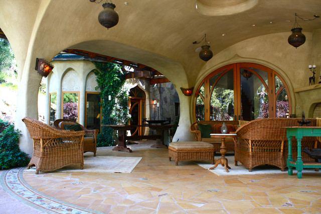 eclectic patio by Shannon Malone