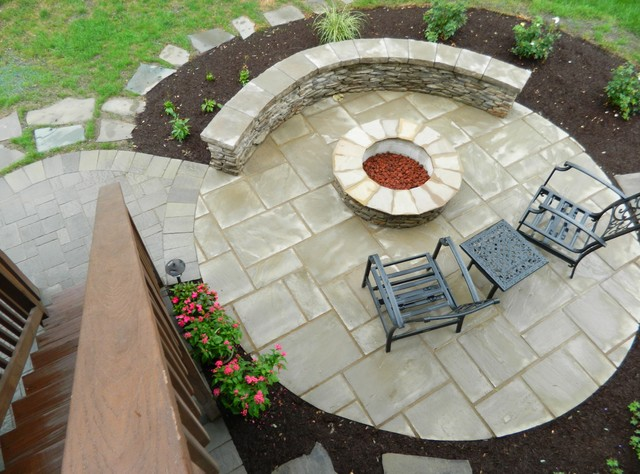 Patio Under Deck With Separate Firepit Patio Contemporary