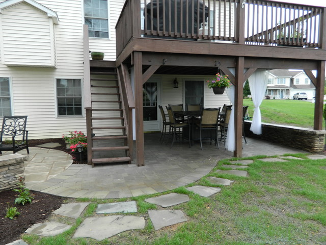 example of a classic patio design - Patio Under Deck