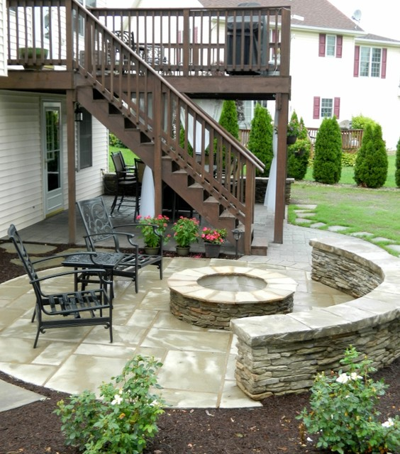 Patio Under Deck With Separate Firepit Patio