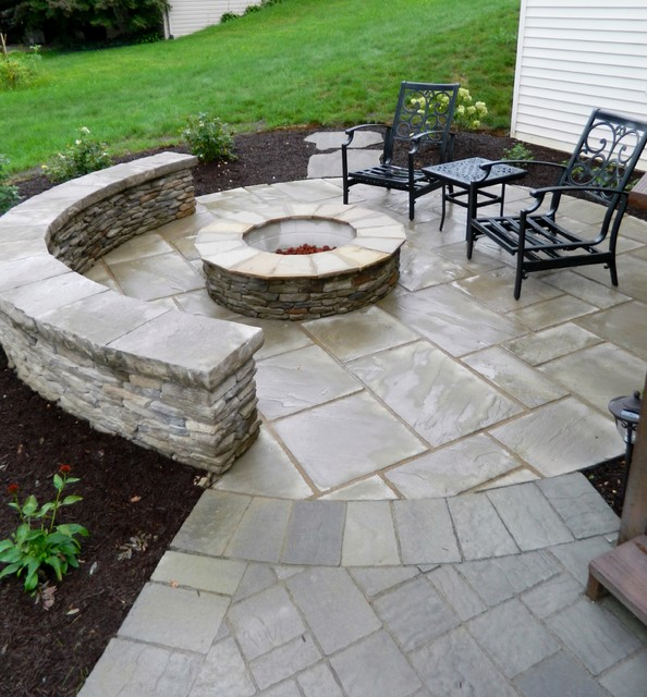 Patio under deck with separate firepit patio for Decks and patios design ideas