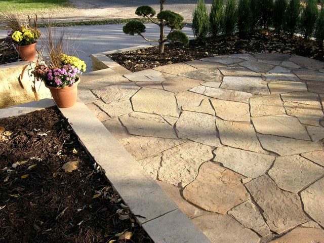 Patio Walkways Driveways Natural Stone Traditional