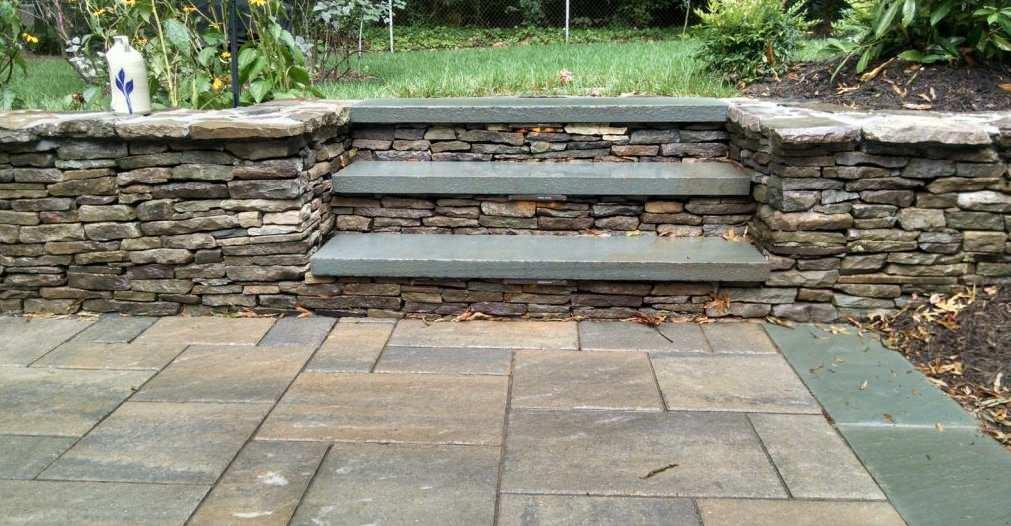 Paver Patio & Drystack Stone